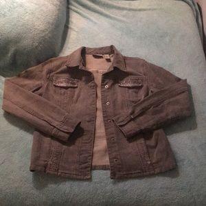 CHICO'S Platinum Gray Denim Jacket
